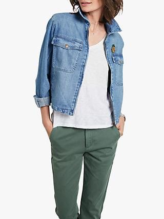 hush Casper Denim Jacket, Denim Blue