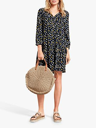 hush Lupin Floral Drop Hem Dress