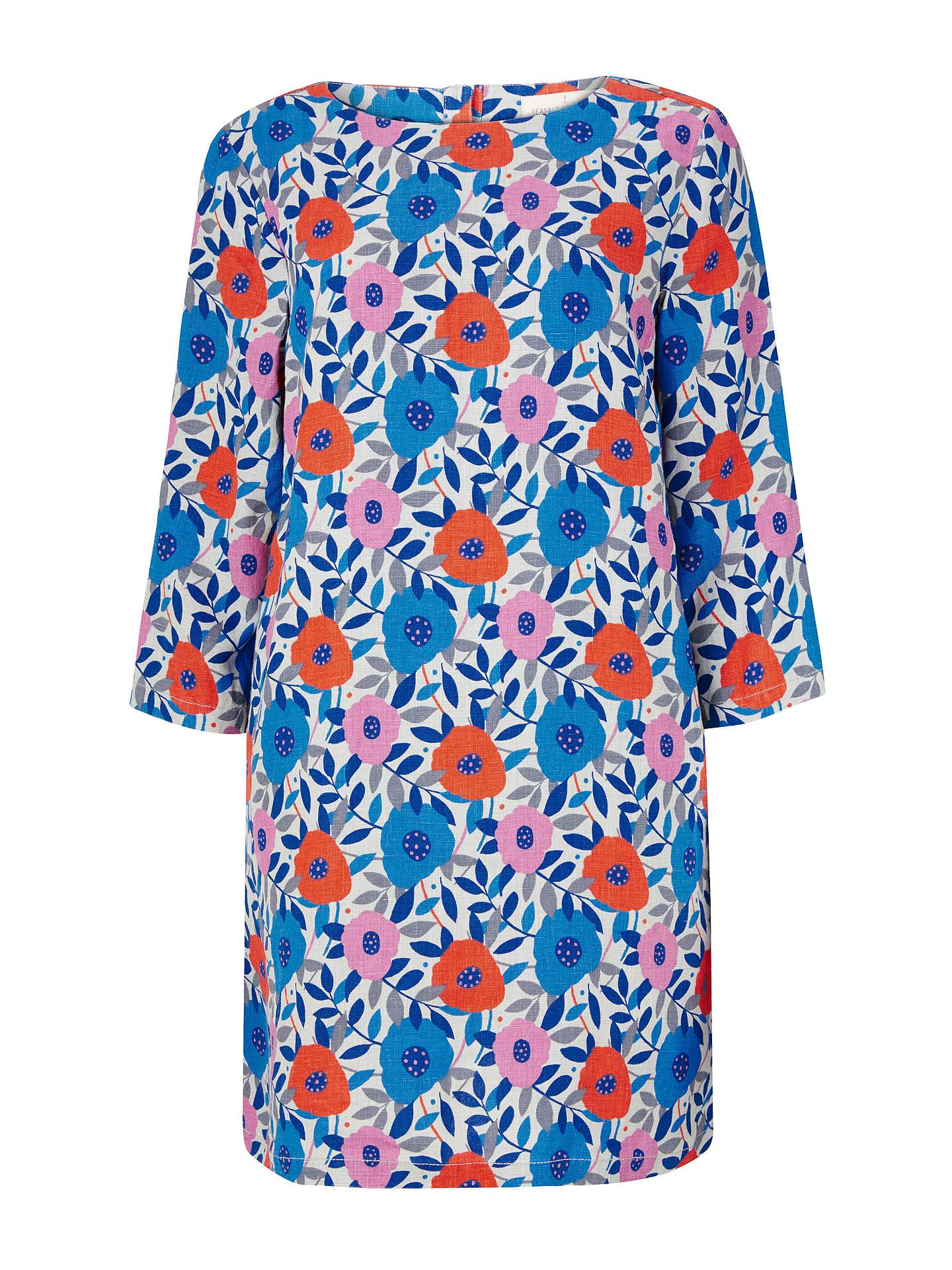 190ceb543e3 Buy Seasalt Sol Blaze Tunic Top, Flower Collage Cobble, 8 Online at  johnlewis.