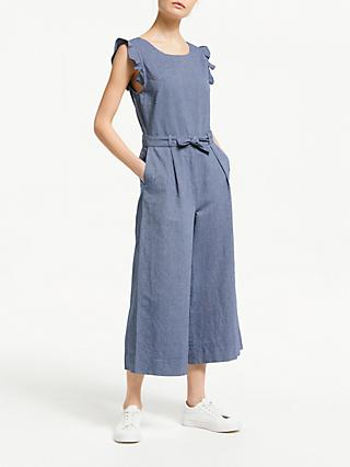 ARMEDANGELS Saanya Frill Sleeve Chambray Jumpsuit 6f5226a94f35