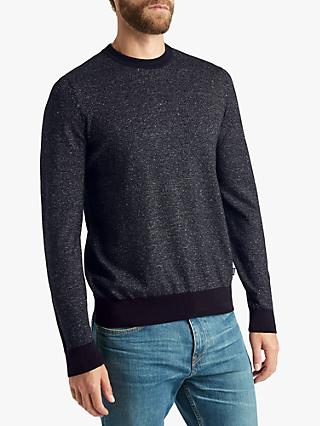 BOSS Franio Crew Neck Jumper, Dark Blue