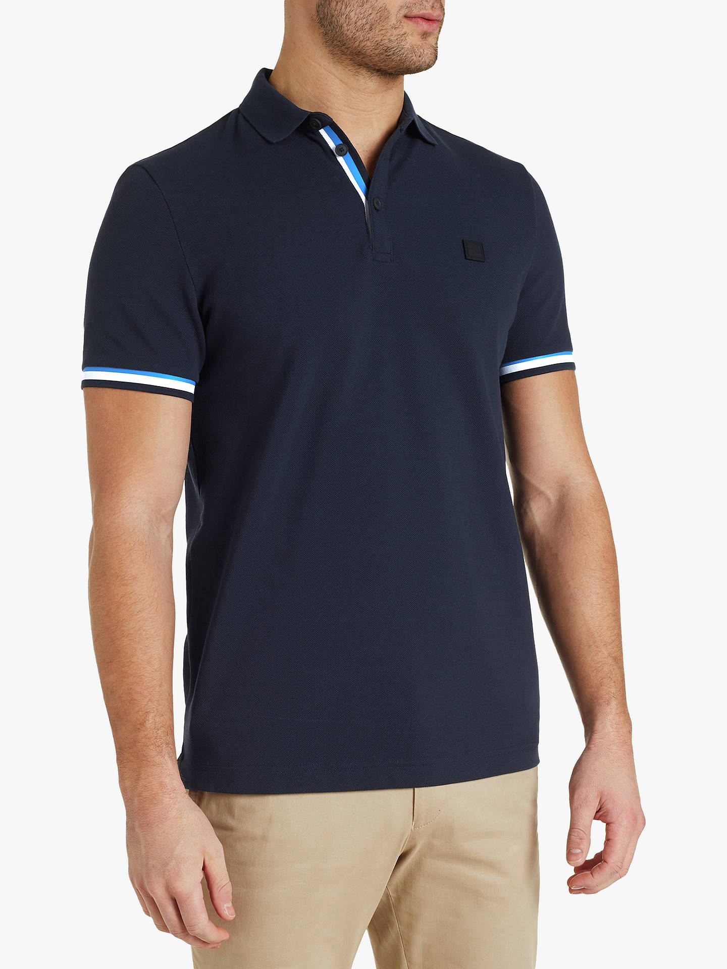 da9d6544 Buy BOSS Printcat Polo Shirt, Dark Blue, XL Online at johnlewis.com ...