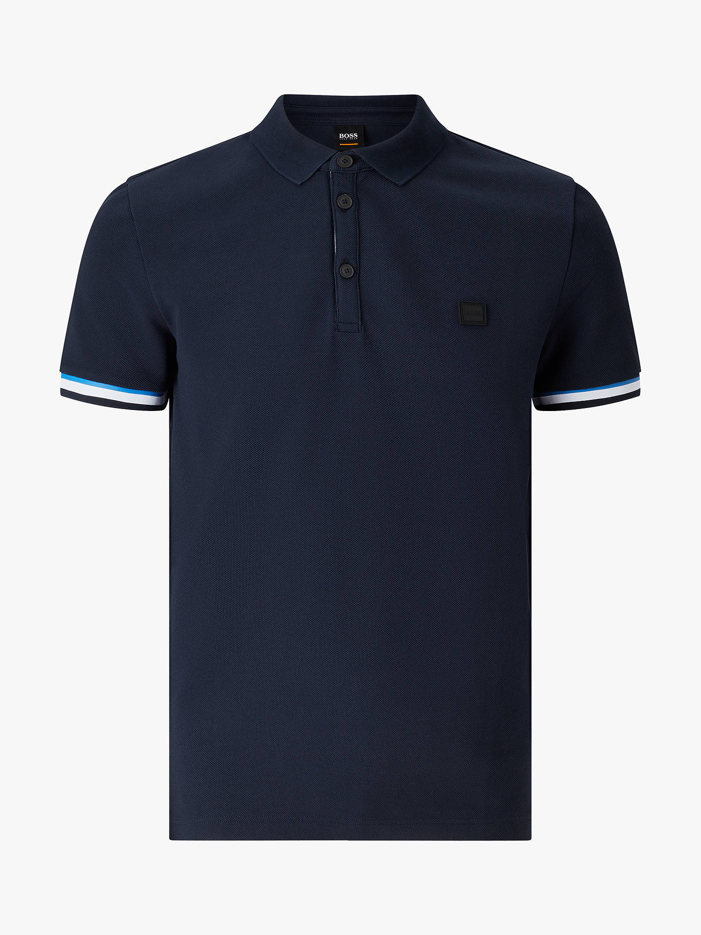 3198f119 ... Buy BOSS Printcat Polo Shirt, Dark Blue, XL Online at johnlewis.com