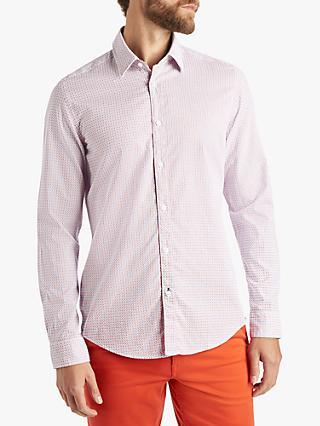 69e72c43 BOSS Lukas Abstract Print Regular Fit Shirt, Orange