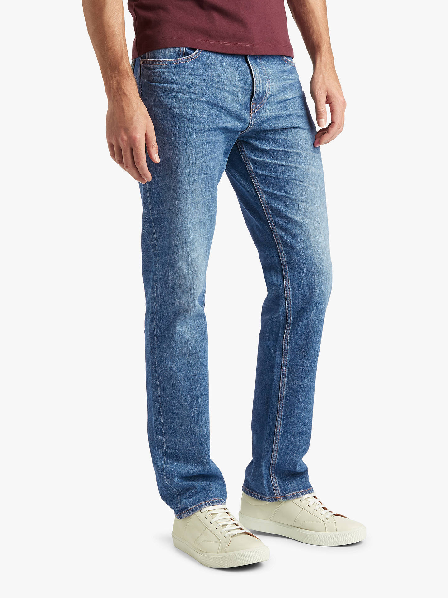 get online discount shop for sale BOSS Albany Straight Fit Jeans at John Lewis & Partners