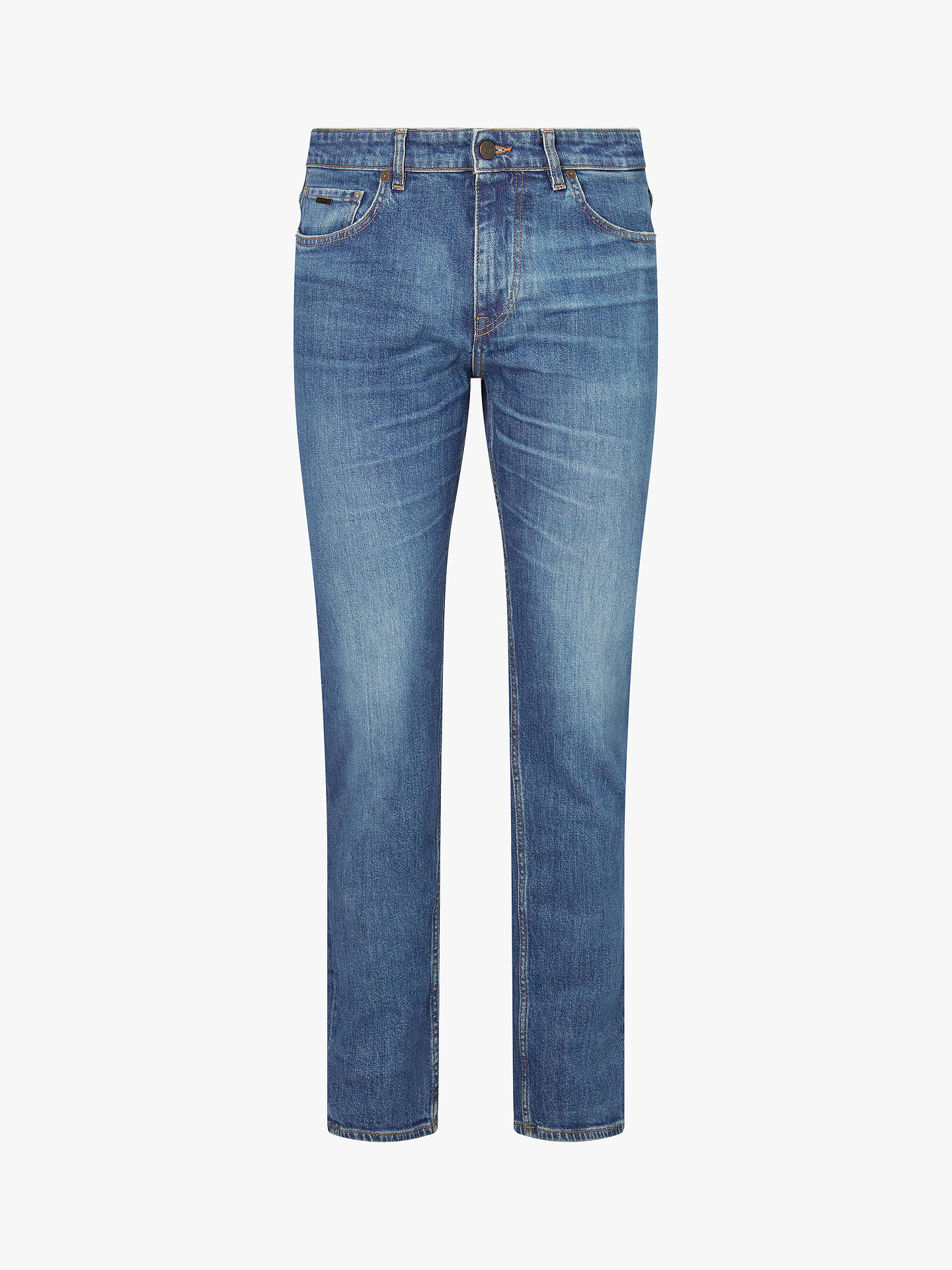 bc7869ab0 ... Buy BOSS Albany Straight Fit Jeans, Navy, 33R Online at johnlewis.com  ...
