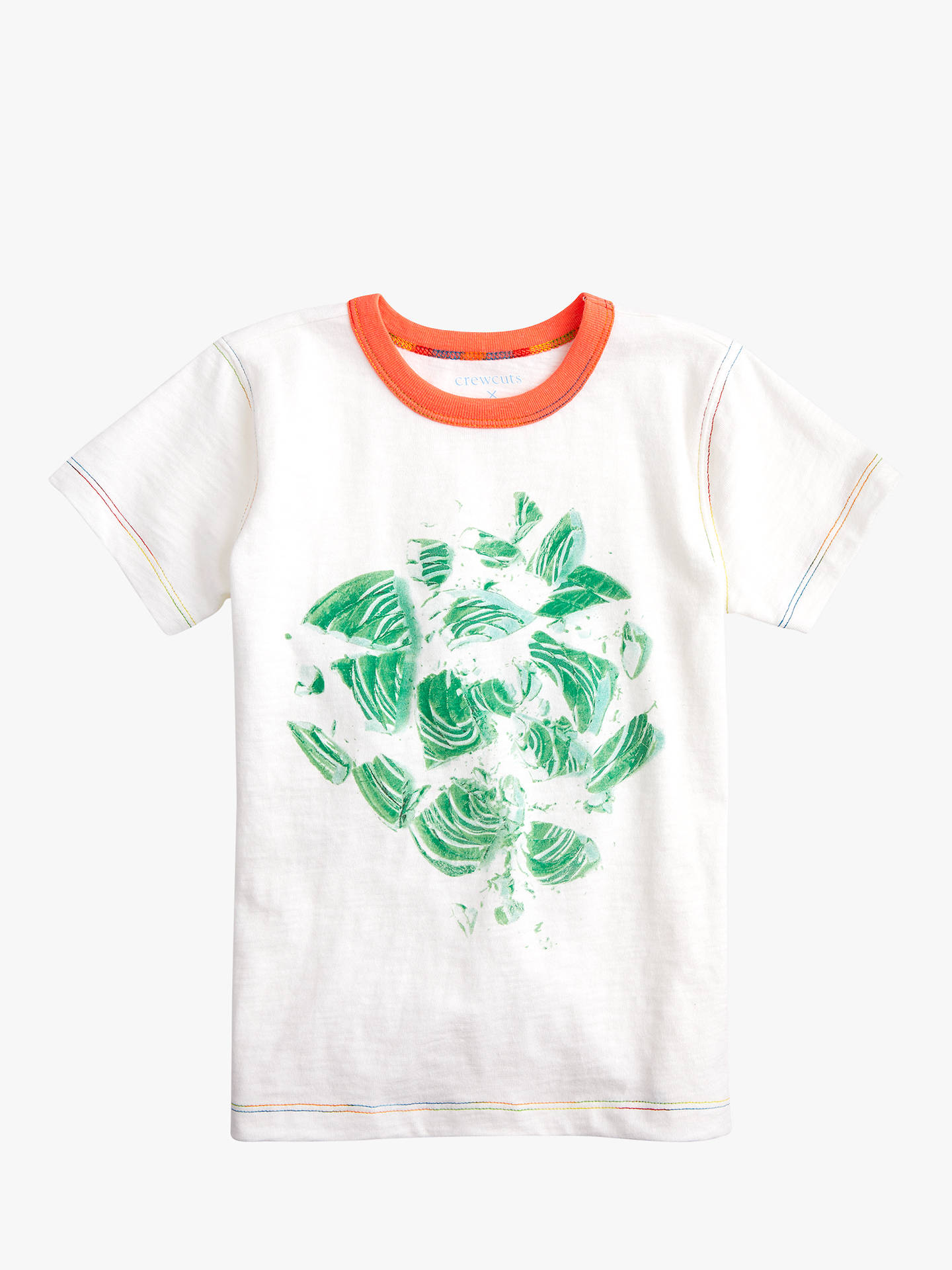 Crewcuts By Jew Boys Abstract Print T Shirt Mint Greenwhite At