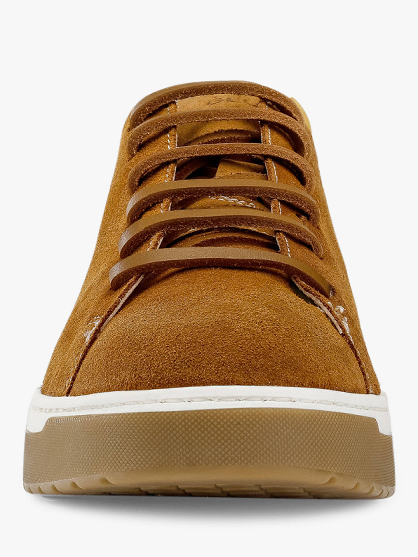Buy Geox Women's Kapha Lace Up Trainers, Curry Leather, 3 Online at johnlewis.com