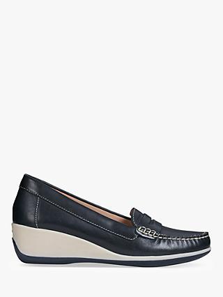 88f531281aeda Geox Women's Arethea Wedge Moccasins, Navy Leather
