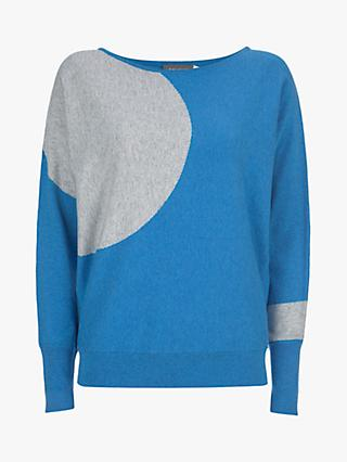 Mint Velvet Circle Batwing Knit Jumper, Blue