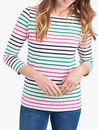 Joules Harbour Cotton Jersey Stripe Top, Multi