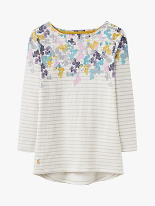b0e5ec7ed7 Joules Harbour Print Jersey Top, Grey Ditsy