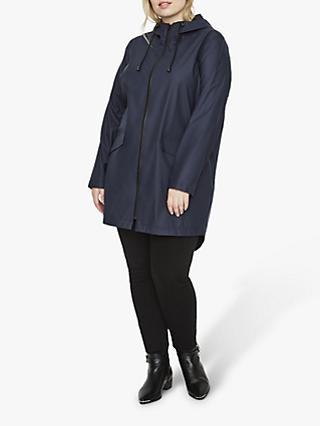 JUNAROSE Curve Liak Waterproof Raincoat, Navy Blazer