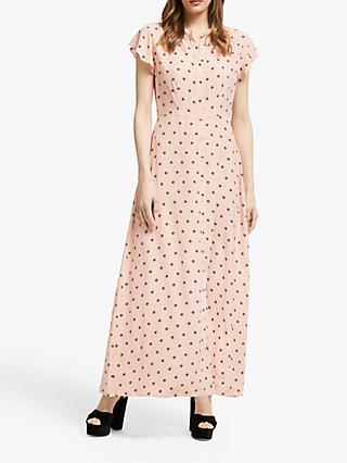 Somerset by Alice Temperley Star Print Shirt Dress, Blush Pink