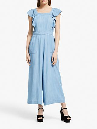 Somerset by Alice Temperley Chambray Jumpsuit, Light Blue