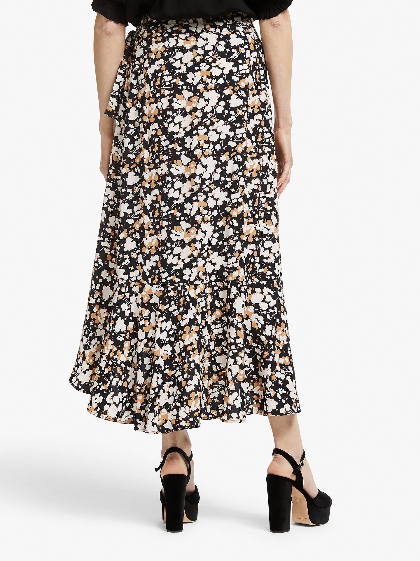 3bbf9056fbc4 ... Buy Somerset by Alice Temperley Dapple Apple Frill Wrap Skirt,  Black/Neutral, 10 ...