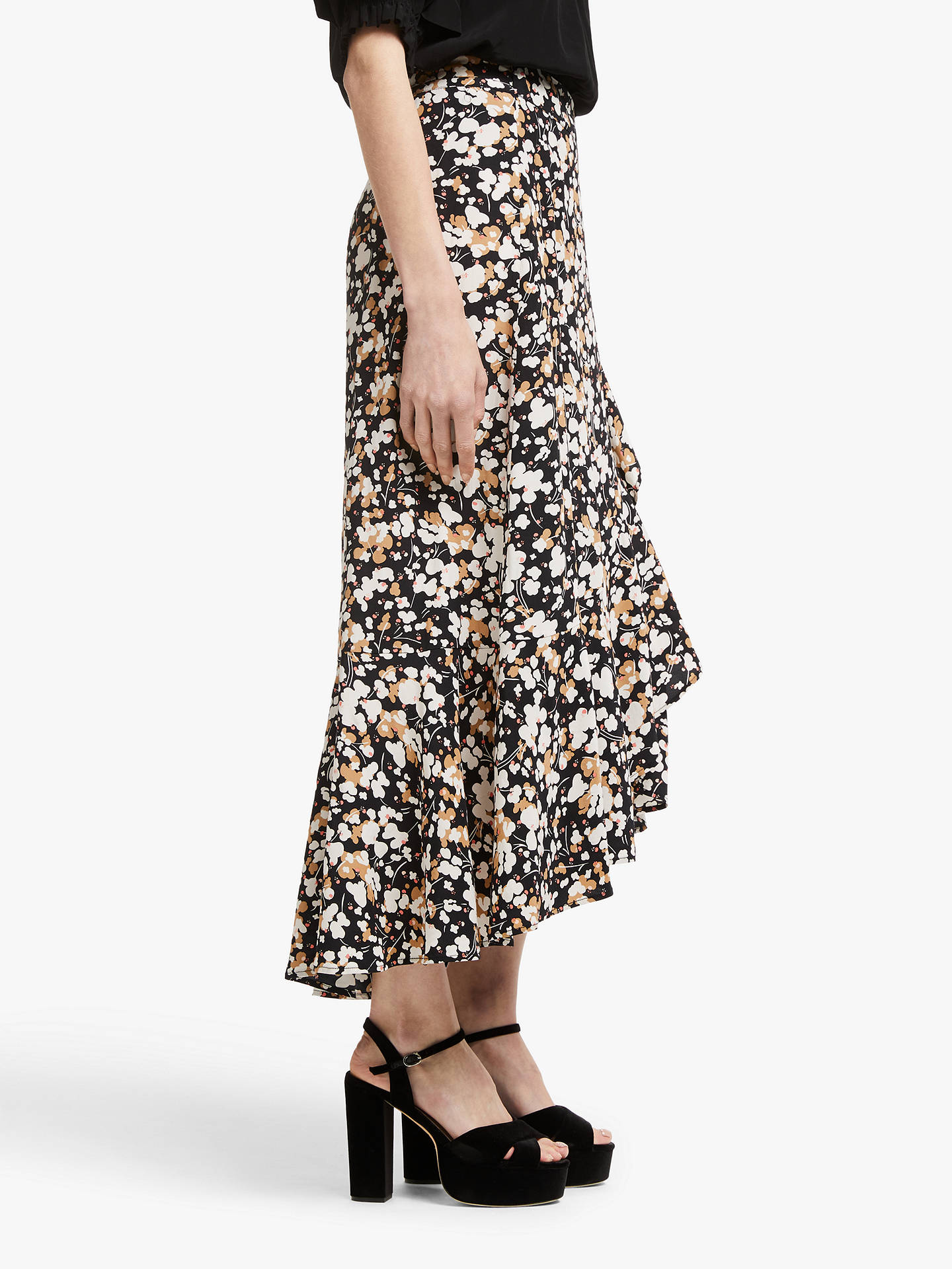 17b6fc8f3626 ... Buy Somerset by Alice Temperley Dapple Apple Frill Wrap Skirt,  Black/Neutral, 10