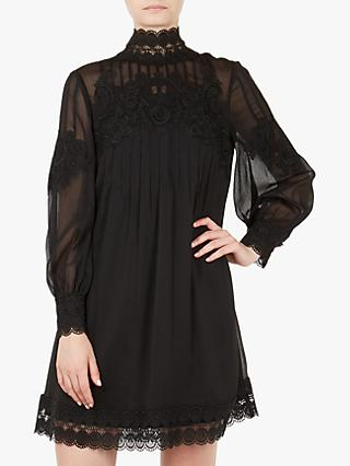 Ted Baker Anneah Lace Detail Tunic Dress, Black