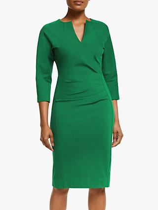 Winser London V-Neck Lauren Miracle Dress, Rich Emerald