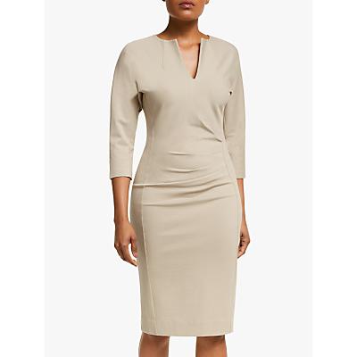 Winser London V-Neck Lauren Miracle Dress, Stone