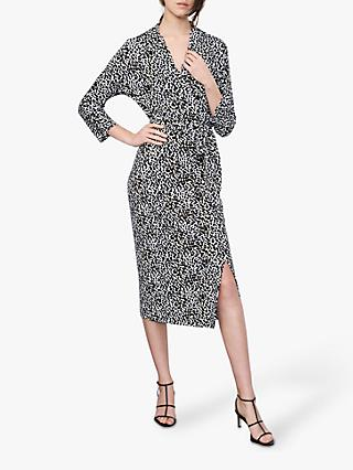 Winser London Wrap Leopard Print Dress, Multi