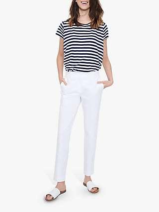 Winser London Cotton Twill Classic Trousers, White