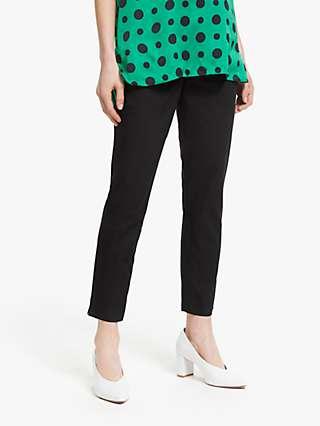 Winser London Cotton Twill Capri Trousers, Black