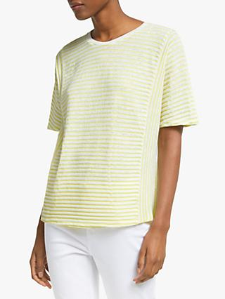John Lewis & Partners Stripe Panel T-Shirt
