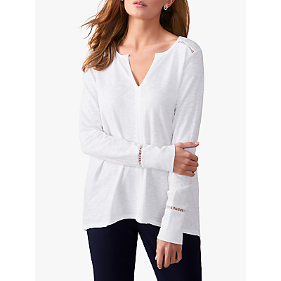 Pure Collection Open Ladderwork Top, White