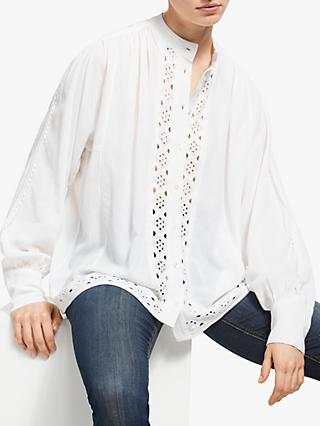 AND/OR Christobel Broderie Anglaise Blouse, Ivory