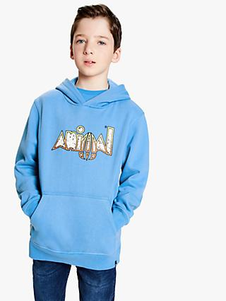 Animal Boys' Hoodie, Blue