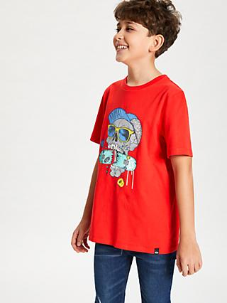 Animal Boys' Snapper Graphic Print T-Shirt, Red