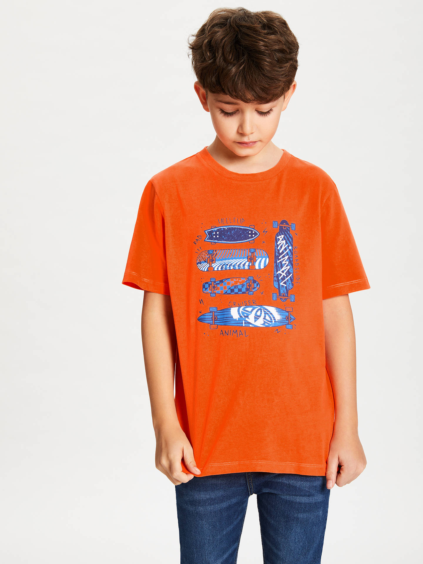2cdd1a6080af Animal Boys' Boardslide Graphic Print T-Shirt, Orange at John Lewis ...