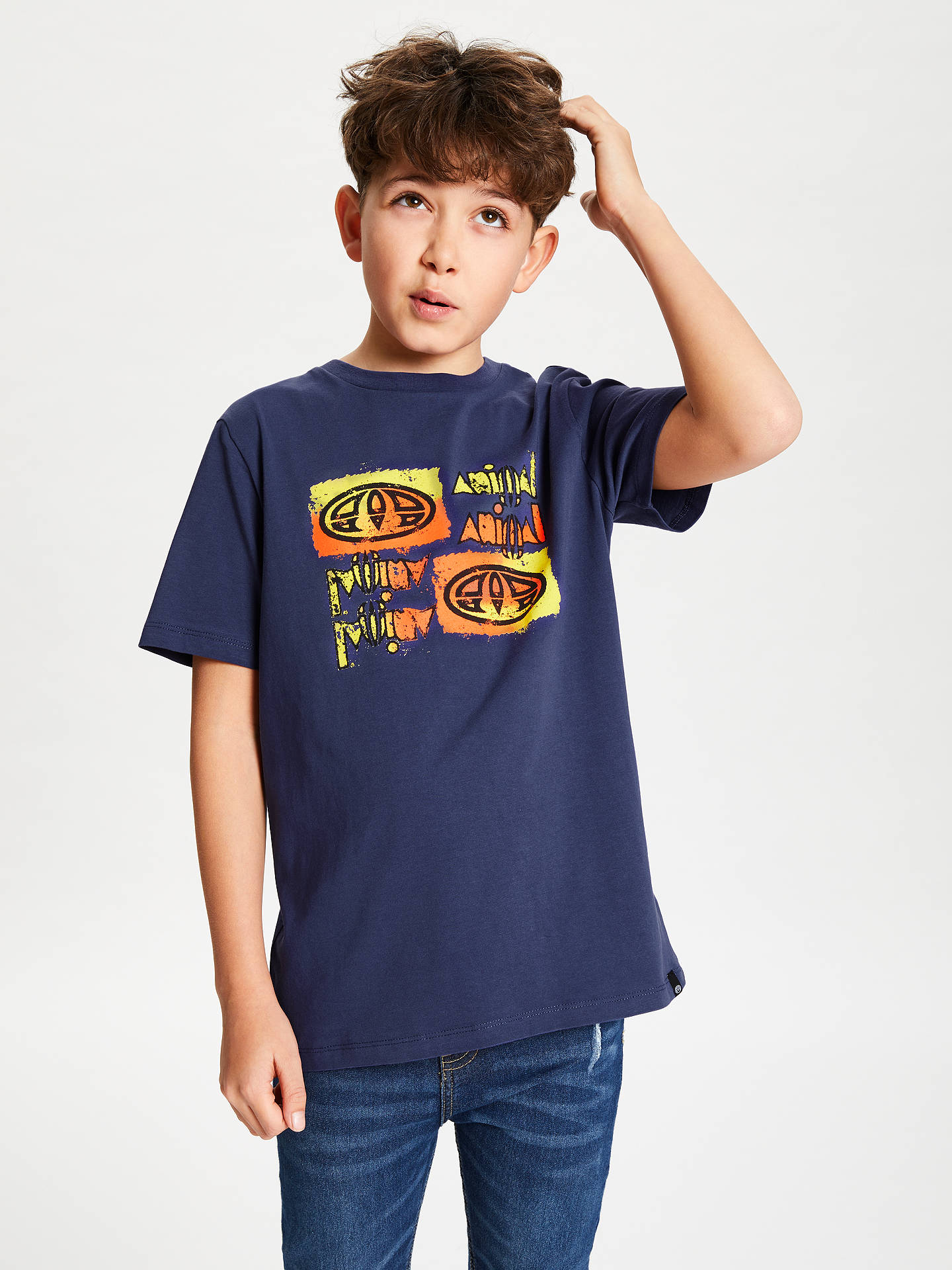 f0f1f641ed31 Buy Animal Boys' Printed T-Shirt, Blue, 13-14 years Online ...