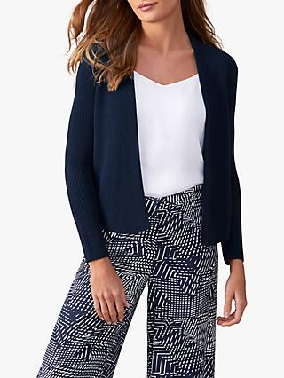 Pure Collection Cotton Cardigan, Navy