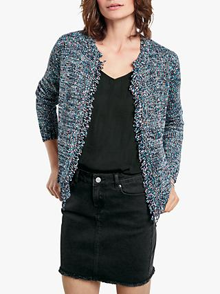 hush Space Dye Textured Knit Jacket, Multi Fleck