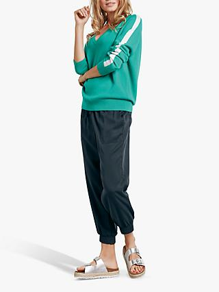 hush Angela Side Stripe Jumper, Spectra Green