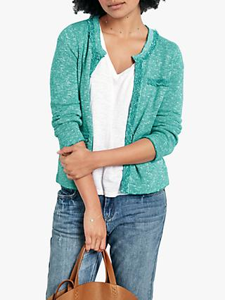 hush Cara Crop Knit Jacket, Spectra Green