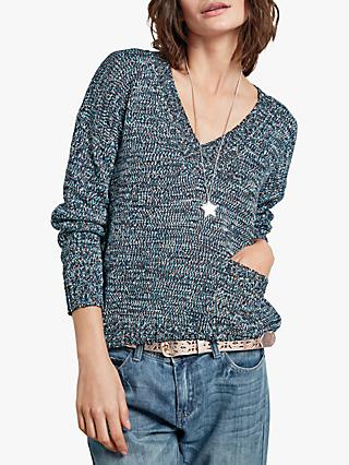 hush Space Dye V-Neck Jumper, Multi
