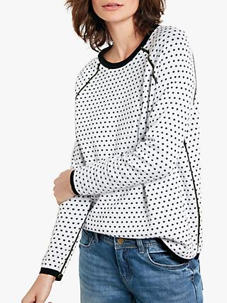 hush Polka Dot Reversible Jumper, Black/White/Yellow