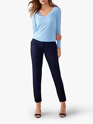 0c551a44b51 Pure Collection Linen Slim Leg Cropped Trousers