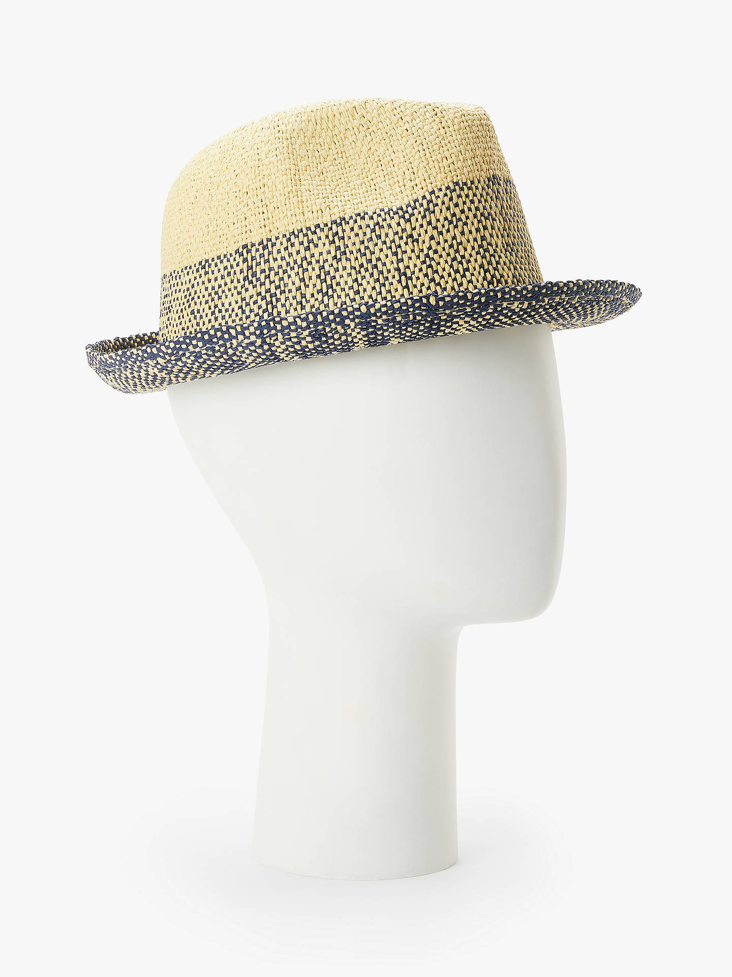f2843d08 Buy Paul Smith Two Tone Trilby Hat, Natural/Navy, M Online at johnlewis ...