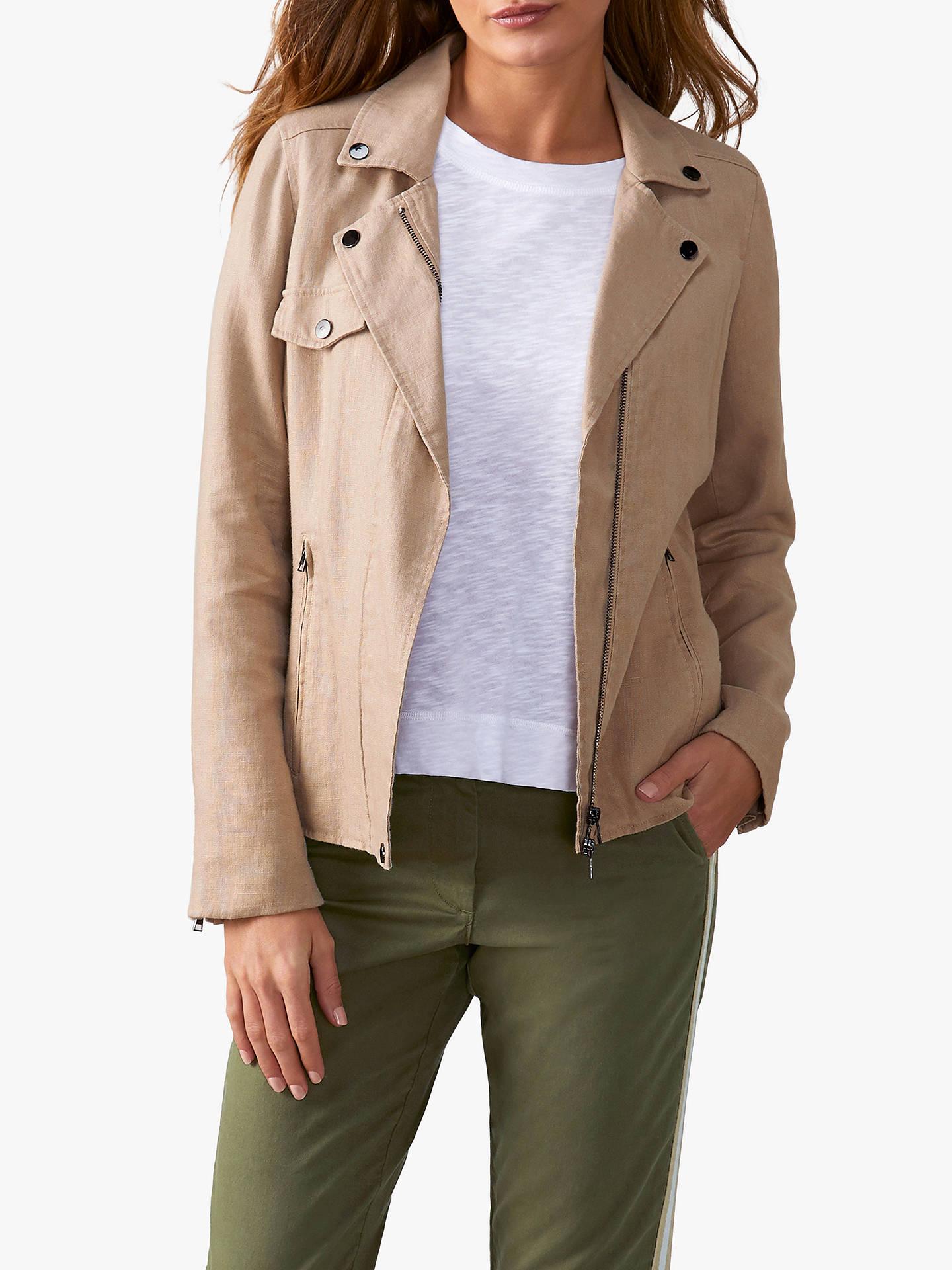 b2784404b7c2 Buy Pure Collection Linen Biker Jacket
