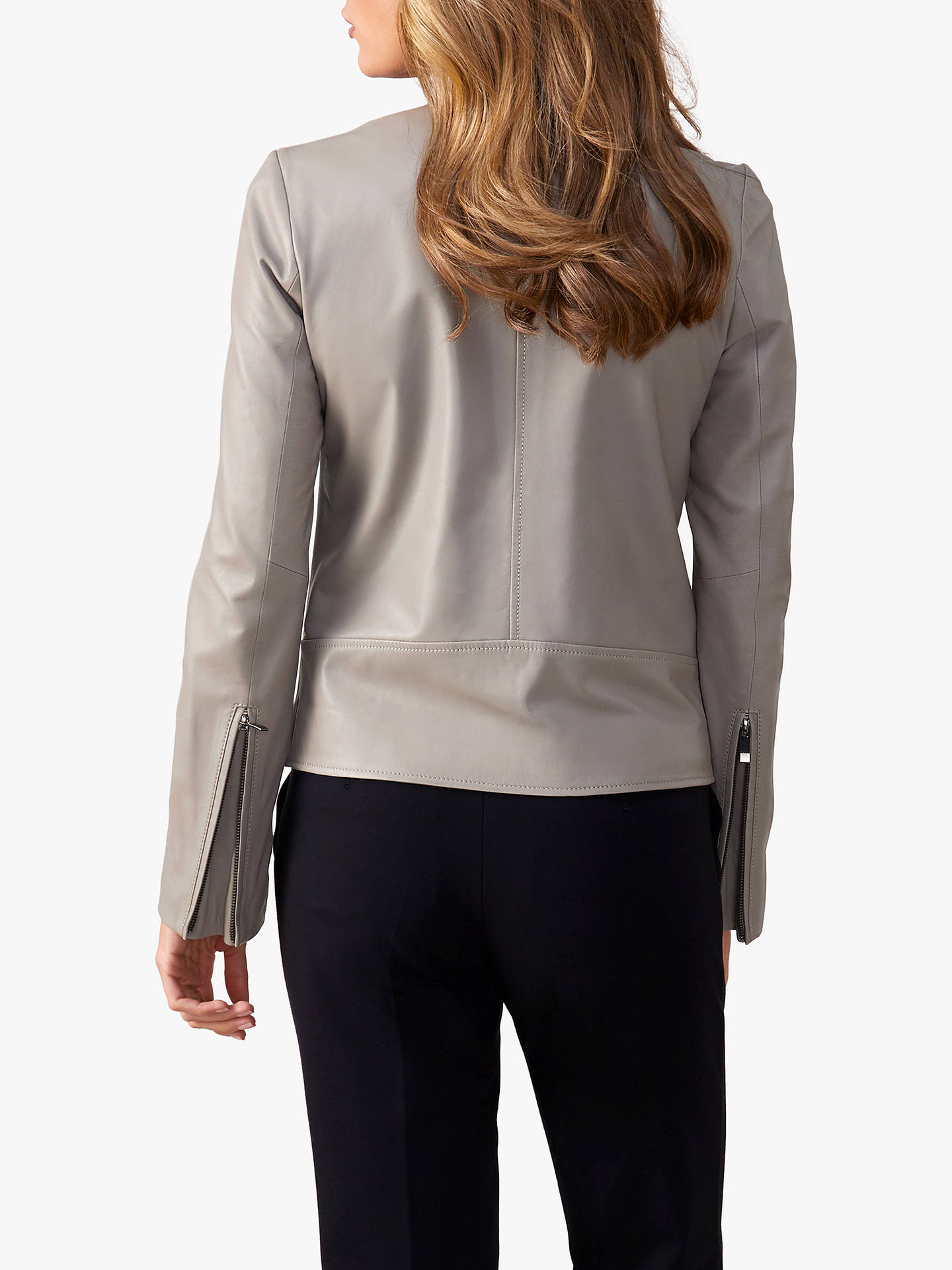 Buy Pure Collection Revere Collar Jacket, Soft Grey, 10 Online at johnlewis.com