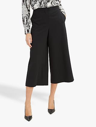 Jaeger Wide Leg Trousers, Black