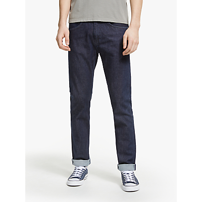 Edwin ED-80 Slim Tapered Mid Rise Jeans, Rinsed