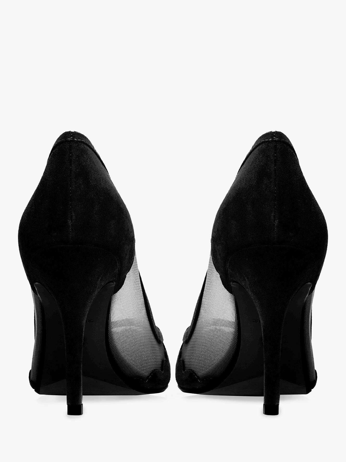 0d7198ca4f6 Dune Bellevue Semi Sheer Court Shoes, Black Suede