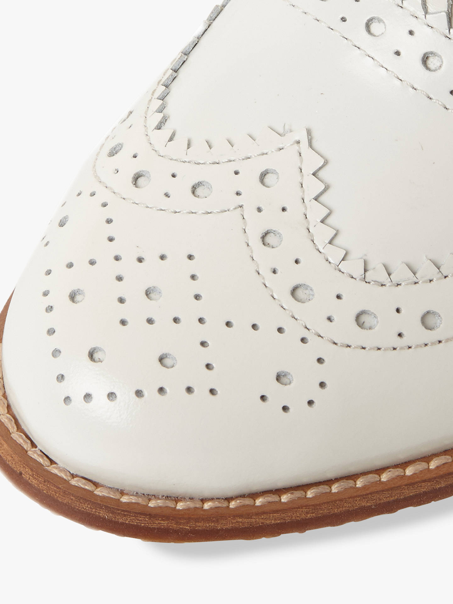 Buy Dune Frenchie Lace Up Brogues, White Leather, 6 Online at johnlewis.com
