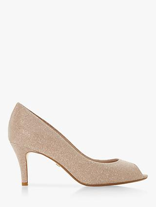 Dune Cherrice Open Toe Court Shoes, Blush