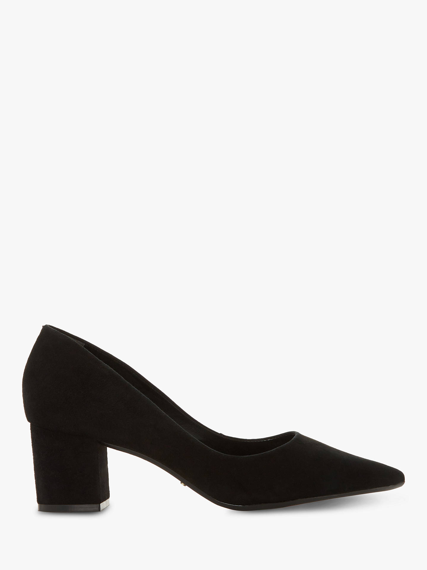 2d5dae7dcfd Dune Arvemarie Block Heel Pointed Court Shoes at John Lewis   Partners